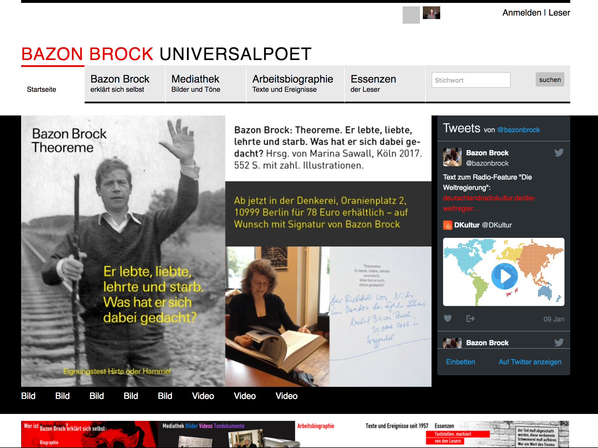 Website bazonbrock.de