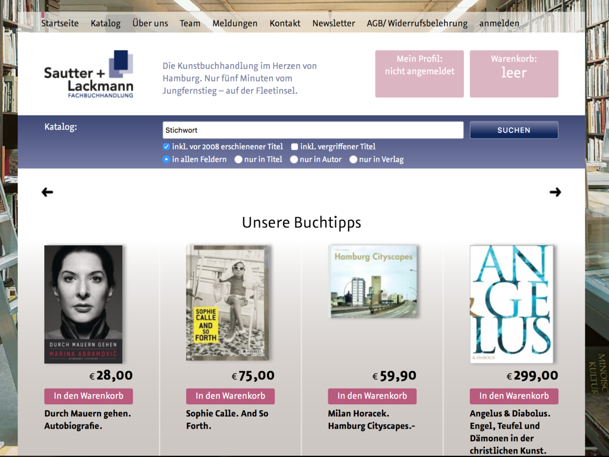 Website sautter-lackmann.de