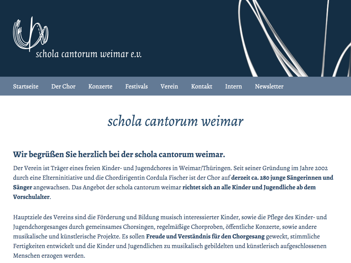Website schola-cantorum-weimar.de