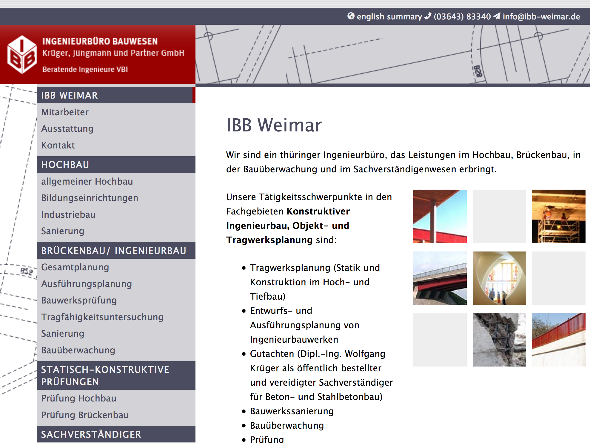Website ibb-weimar.de