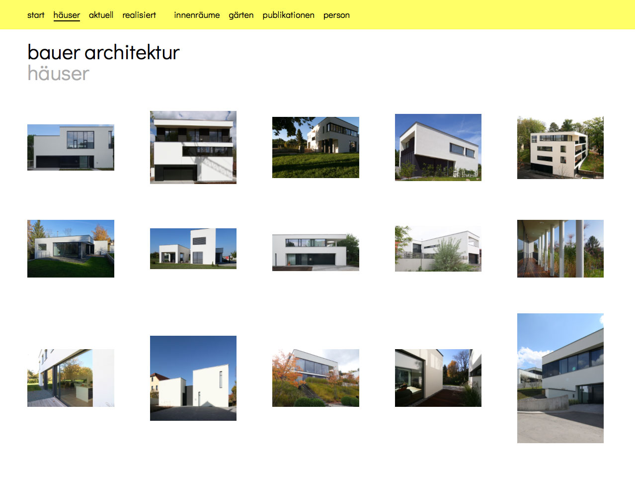 Website bauerarchitektur.de