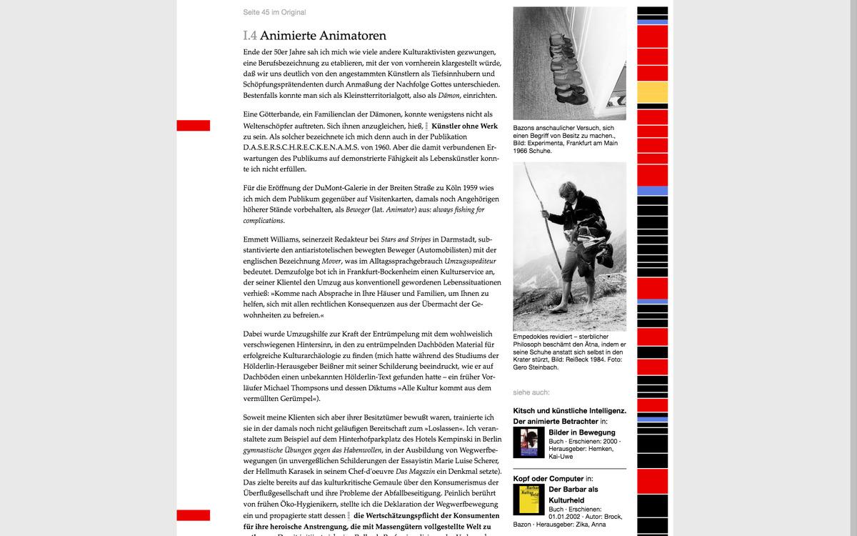 Projekt Arbeitsbiografie Bazon Brock Kohlhaas Kohlhaas